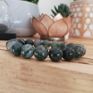 Bracelet agate mousse - La pierre de mère nature